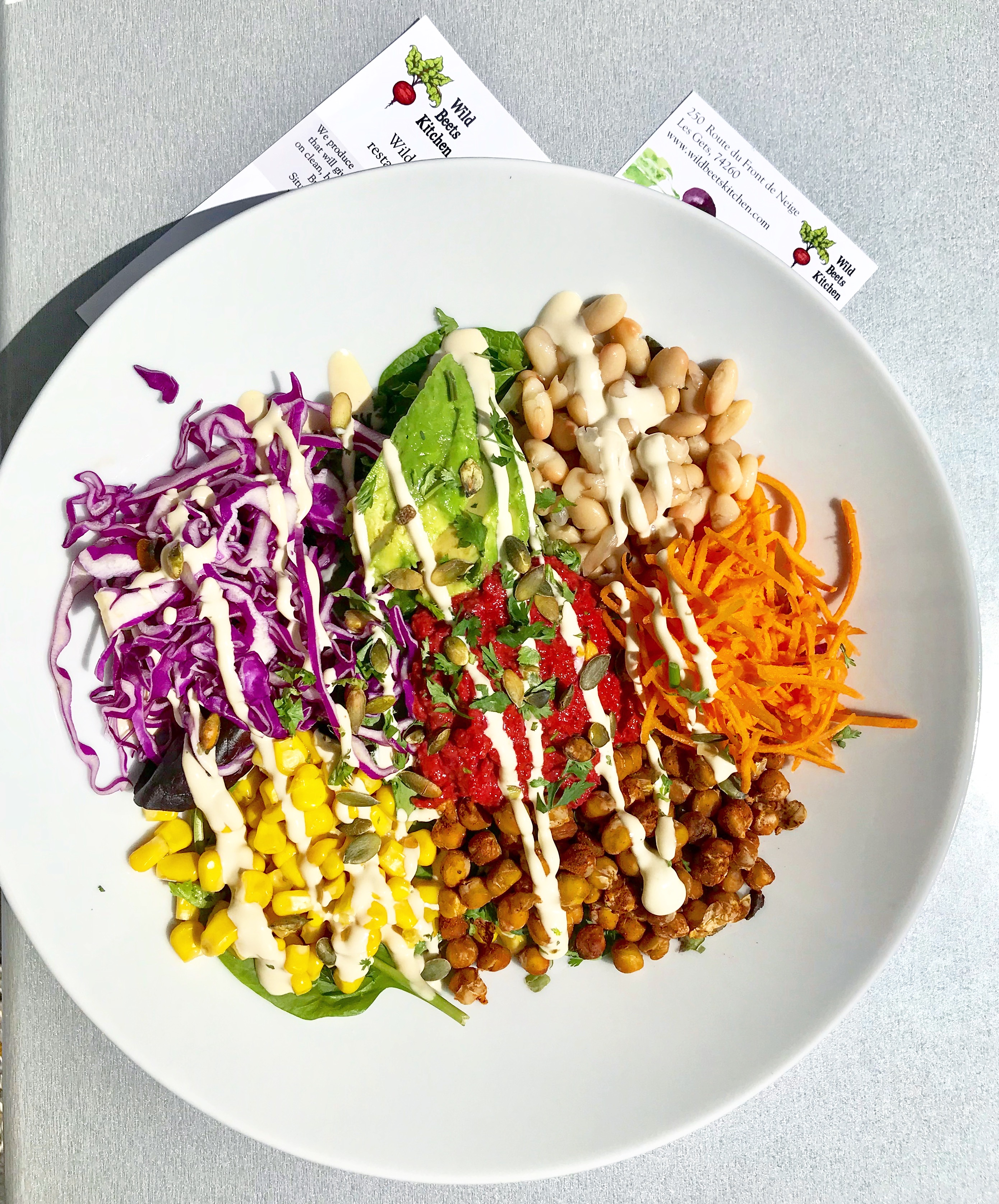 buddha bowl at wild beets kitchen les gets - Les Kitchen
